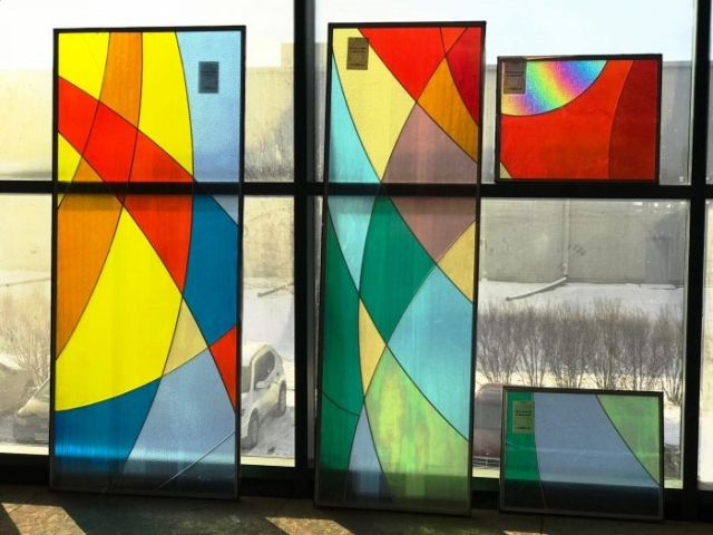 Art Glass Windows In Production