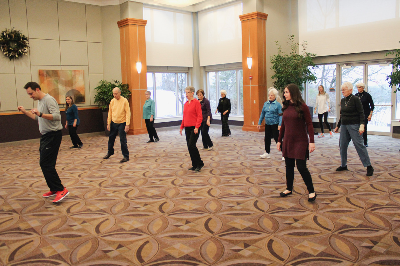 Bethany Village residents in a Line Dancing class
